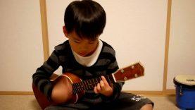 Crazy G – A Cute child playing Ukulele