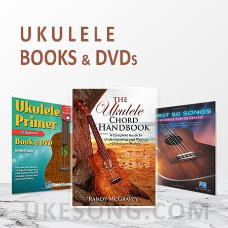 ukulele books and DVDs