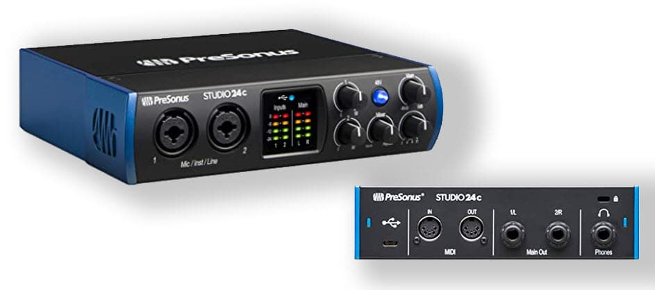 PreSonus Studio 24c 2x2, 192 kHz